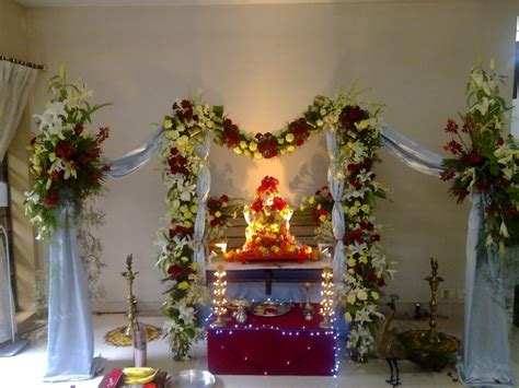 artificial flower decoration for home 17 best images about ganpati 2015 on green