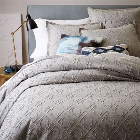 pattern texture duvet roar rabbit graphic texture duvet cover shams west elm