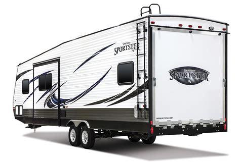 kz rv travel trailers fifth wheels toy haulers sportster 321thr12 travel trailer toy hauler k z rv