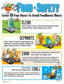 Food safety poster 16 99 nutrition education store