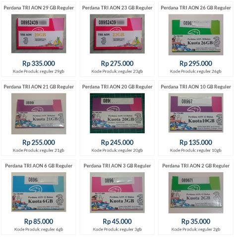 Perdana Tri Aon 10gb By Fr3nk harga jual kartu perdana tri 3 three aon 6gb 10gb