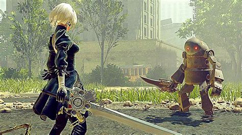 nier automata  hour  amazing gameplay part  ps pc
