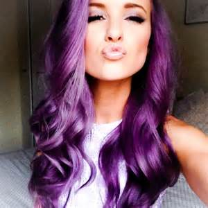 hair with color purple hair color nail styling