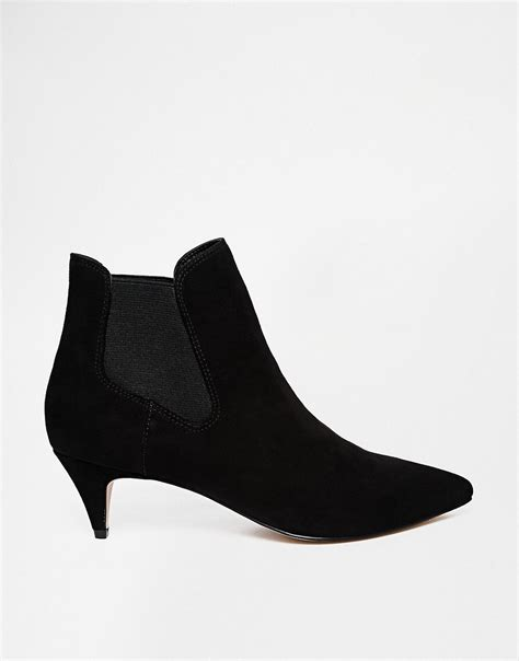 ankle kitten heels asos asos redchurch kitten heel ankle boots at asos