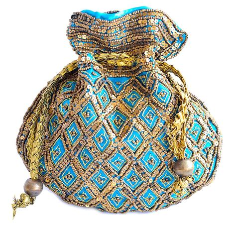 Ethnic Pouch blue jewellery pouch ethnic jewellery tribal