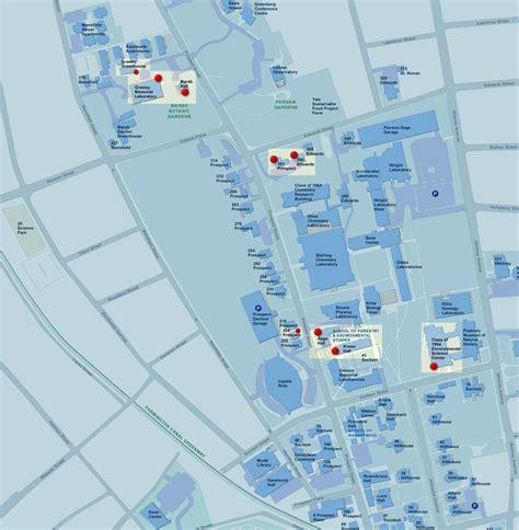 printable yale map yale map yale university cus south and medical center