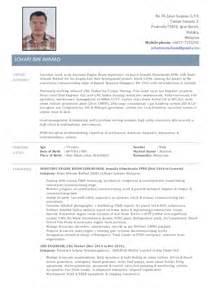 Marine Engineer Sle Resume by Johari Ahmad Marine Engineer Resume