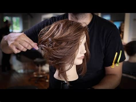 disconnected long bob haircut tutorial   cut  lob