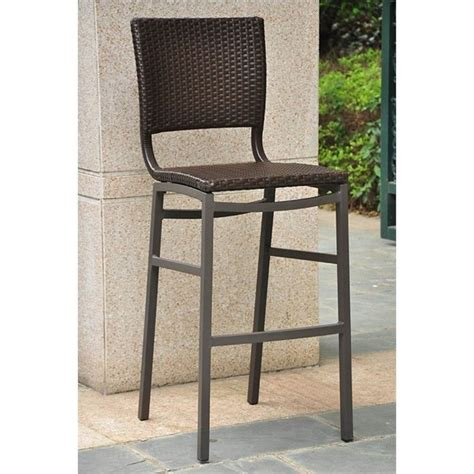 outdoor bar height stools resin wicker aluminum bar height patio bar stool set of 2
