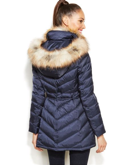 laundry design winter coats laundry by shelli segal faux fur hooded quilted puffer