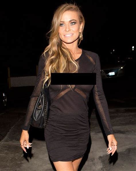 carmen electra carmens oxblood ensemble is all about texture carmen electra flashes nipples in see through lbd clearly