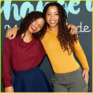 chloe and halle bailey feet chloe x halle step out for made with code event in nyc