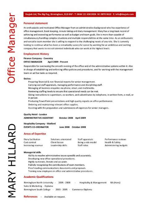 office management resume example designer resumes daily job search