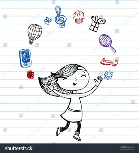 how to use favourite doodle my favorite things vector doodles on lined paper