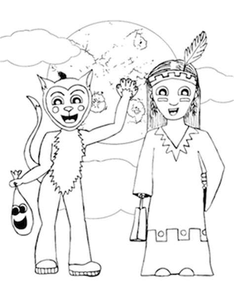 cat costume coloring page cat costume coloring page