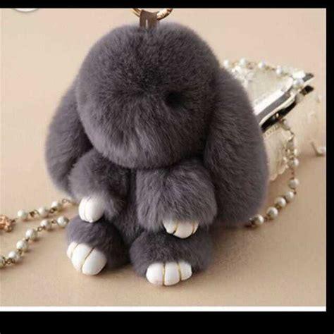 Kopenhagen Bunny Keychain kopenhagen fur label bunny keychain in grey airfrov