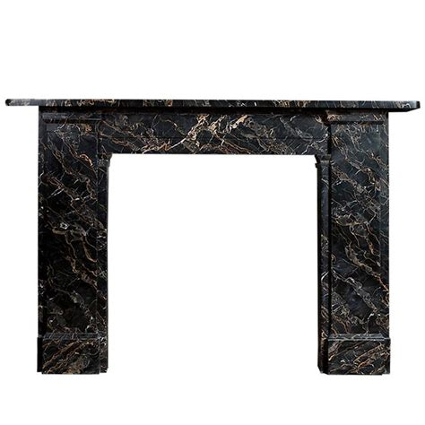 Antique Portoro Nero Marble Fireplace For Sale at 1stdibs