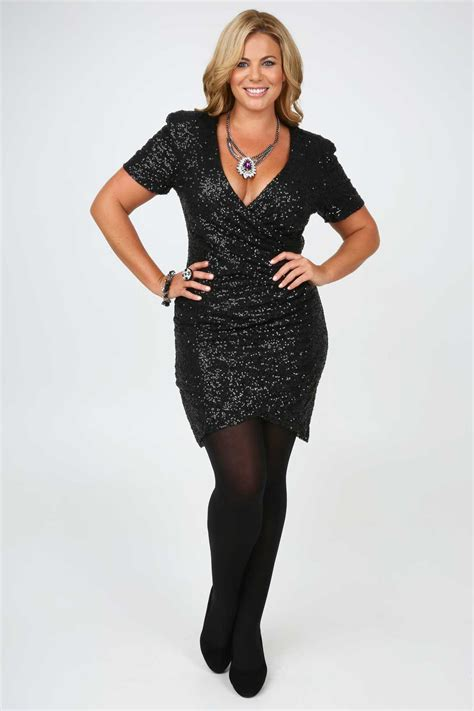line dresses for women over 50 black models picture black all over sequin wrap dress with short sleeves plus