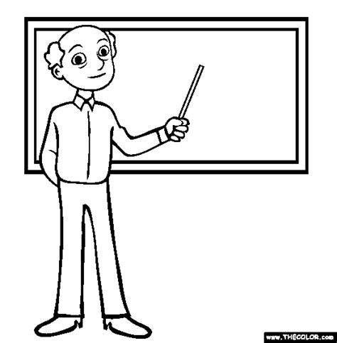 teacher coloring page free teacher online coloring
