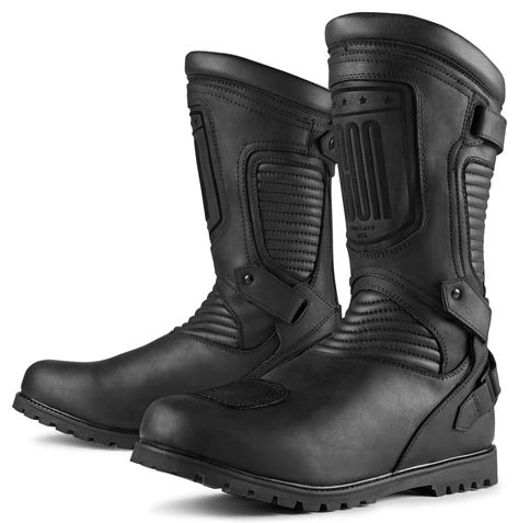 sportbike riding boots 215 00 icon mens 1000 collection prep leather boots with