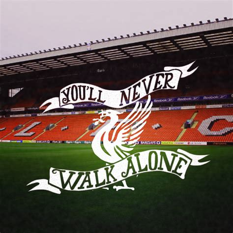 Football Wall Sticker hand lettered liverpool fc picture now and bennow and ben