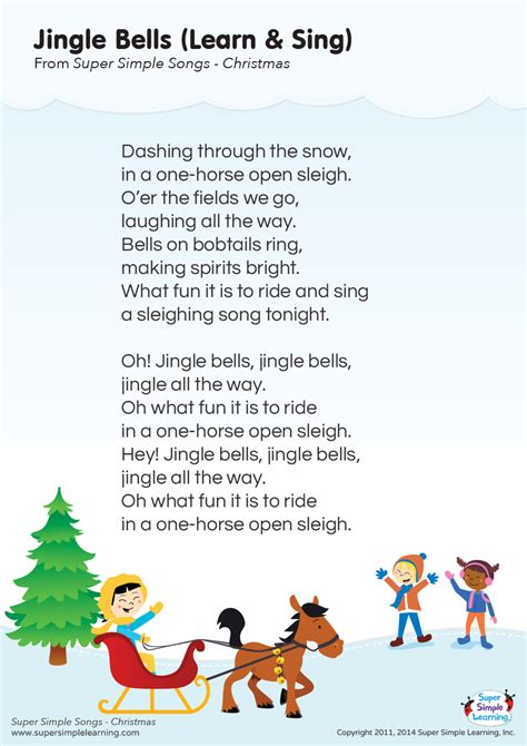 eminem jingle bells lyric jingle bells learn sing lyrics poster super simple