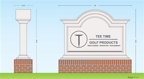 Monument Sign Templates Monument Signs Tee Time Golf Products