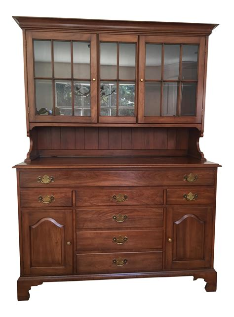 henkel harris china cabinet henkel harris cherry china cabinet chairish
