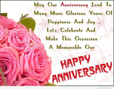 Wedding Anniversary Quotes To And In by Happy Anniversary Wedding Wishes