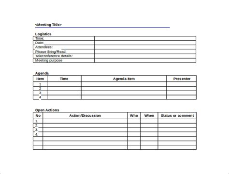 38 Free Sle Meeting Minutes Templates Sle Templates Free Corporate Minute Book Template