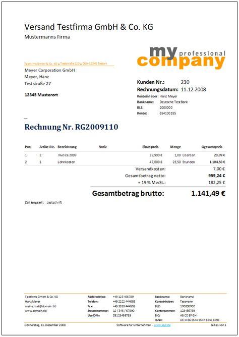 Rechnung Schweiz Leistungserbringung Deutschland Rechnung