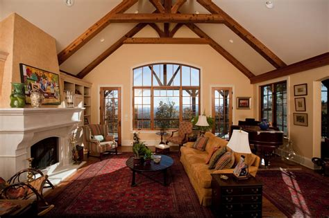 Living Room Ceiling Ls Rustic Vaulted Ceiling Living Room Www Pixshark Images Galleries With A Bite