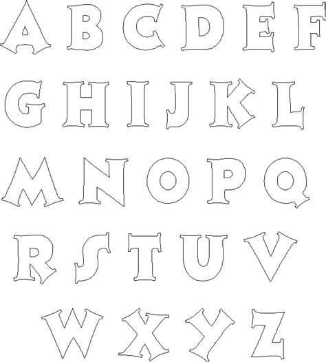 template for alphabet letters frugal scrapbooker alphabet templates