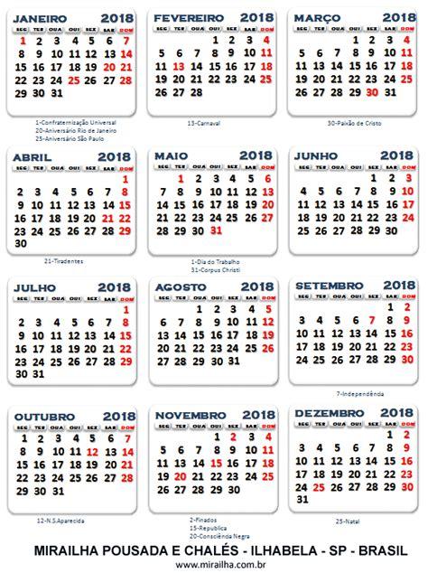 Calendários 2018 Calendar 2018 Spain Calendario 2018