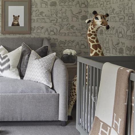 grey wallpaper for nursery nursery with gray ark wallpaper transitional nursery