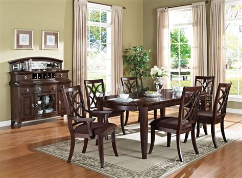dining rooms outlet acme keenan 7pc leg dining room set in dark walnut by
