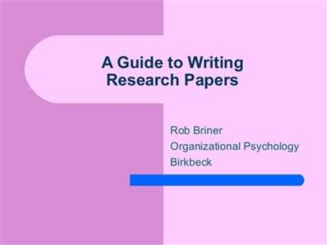 guide to writing a research paper guide to writing research papers in the mla style