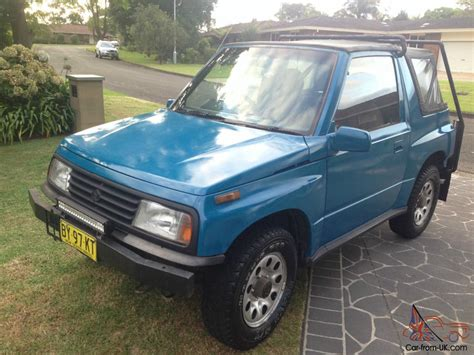 best car repair manuals 2001 suzuki vitara spare parts catalogs suzuki vitara jlx 4x4 1990 2d softtop manual 1 6l carb seats in nsw