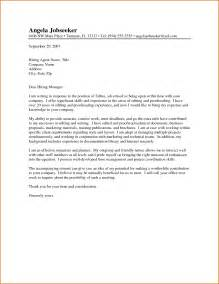Editor Cover Letter by Editor Cover Letter Sle The Best Letter Sle