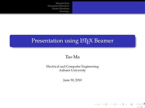 beamer themes directory elec 5970 6970 latex