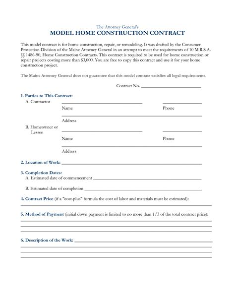 contractor contract template free doc 673865 government construction contract sle