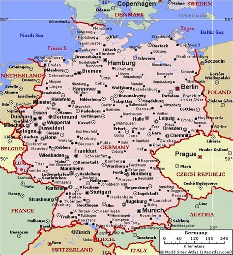 map of german towns facts about germany basic and interesting german facts