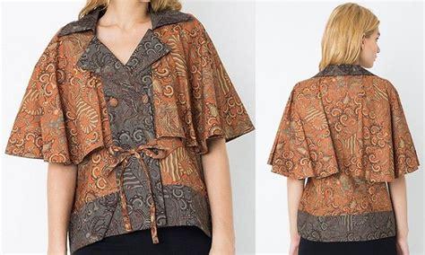 Baju Kerja Khusus Ibu model baju kerja batik khusus wanita gemuk dinar batik
