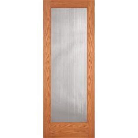 Feather River Interior Doors by Feather River Doors 36 In X 80 In Reed Woodgrain 1 Lite