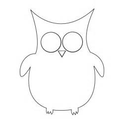 Owl Template by Free Owl Template Coloring Pages