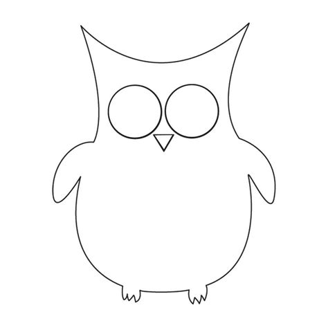 free owl template coloring pages