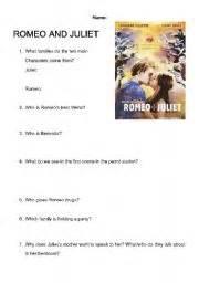 romeo and juliet comprehension worksheet