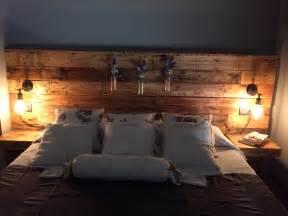 pallet headboard with lights pallet headboard with lights bedroom design ideas