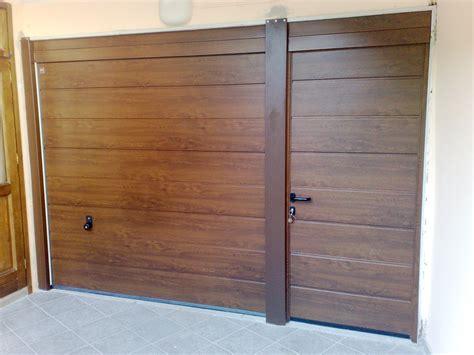 sezionali hormann progetto installazione portone sezionale hormann con porta