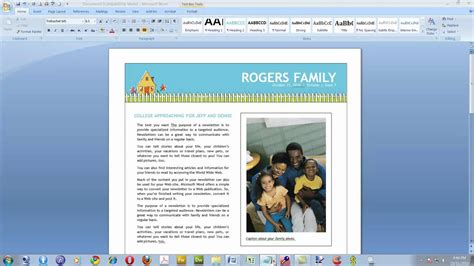how to design a newsletter template in word create a newsletter with microsoft word 2007